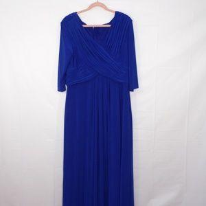 Patra Royal Blue Special Occasion Dress, Sz 18